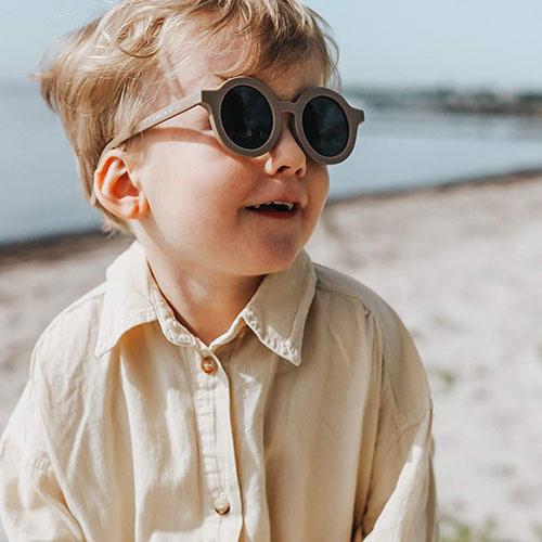 Grech & Co Sustainable Kids Sunglasses Stone (Zonnebril)-2