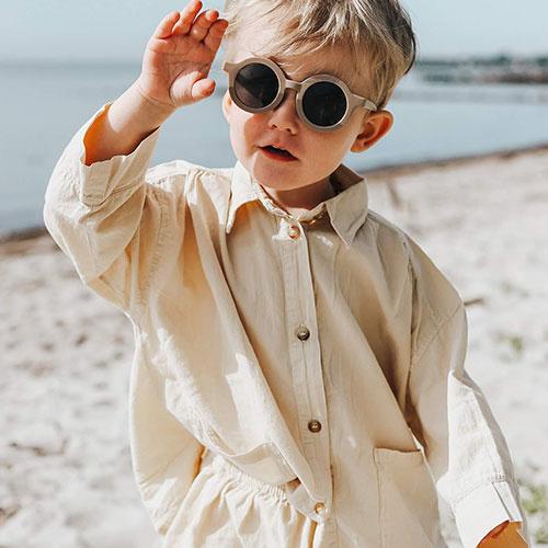 Grech & Co Sustainable Kids Sunglasses Stone (Zonnebril)-4