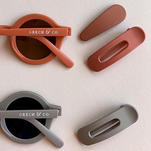 Grech & Co Sustainable Kids Sunglasses Stone (Zonnebril)-6