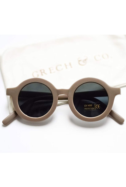 Grech & Co Sustainable Kids Sunglasses Stone (Zonnebril)
