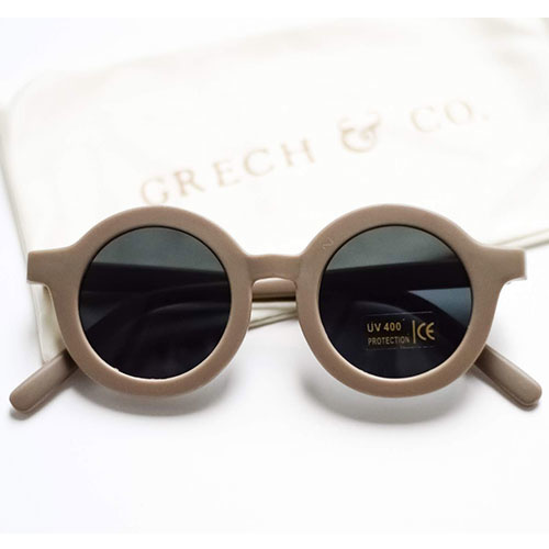 Grech & Co Sustainable Kids Sunglasses Stone (Zonnebril)-1
