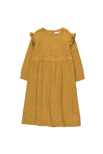 Tinycottons Tiny Dots Dress mustard/navy (Jurk)