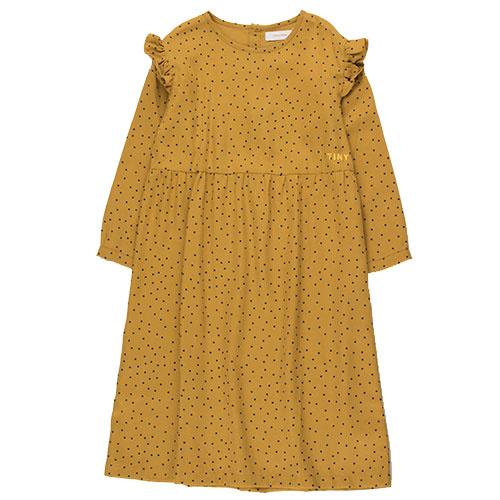 Tinycottons Tiny Dots Dress mustard/navy (Jurk)-1