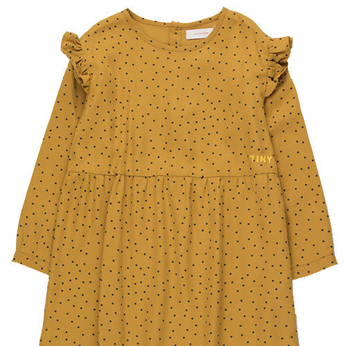 Tinycottons Tiny Dots Dress mustard/navy (Jurk)-3