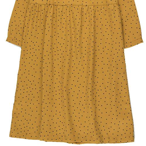 Tinycottons Tiny Dots Dress mustard/navy (Jurk)-4