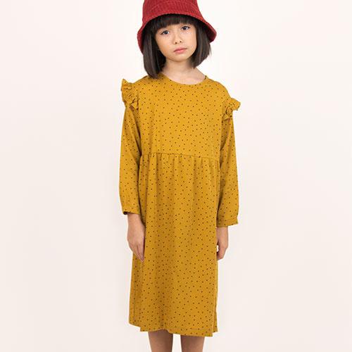 Tinycottons Tiny Dots Dress mustard/navy (Jurk)-2