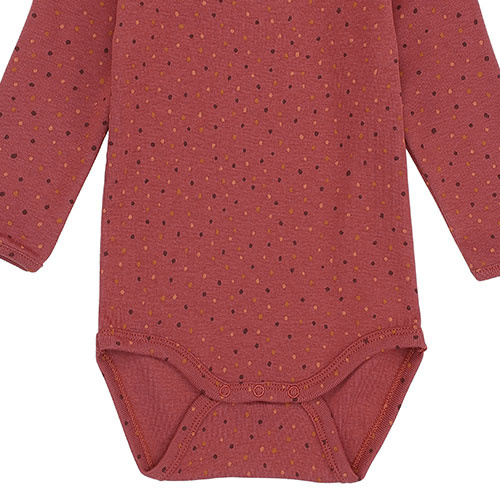 Soft Gallery Bob Body Barn Red AOP Trio Dotties (Romper)-4
