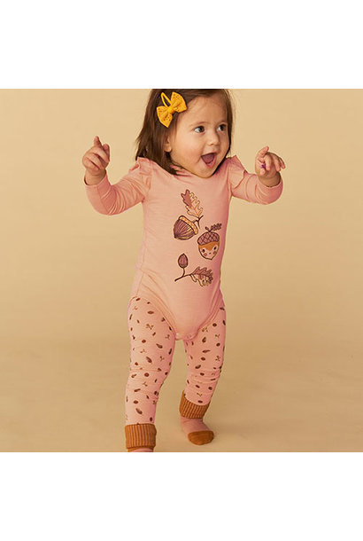 Soft Gallery Baby Paula Leggings Pale Blush AOP Acorn S (Leggings)