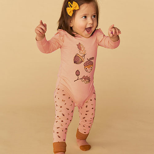 Soft Gallery Baby Paula Leggings Pale Blush AOP Acorn S (Leggings)-1