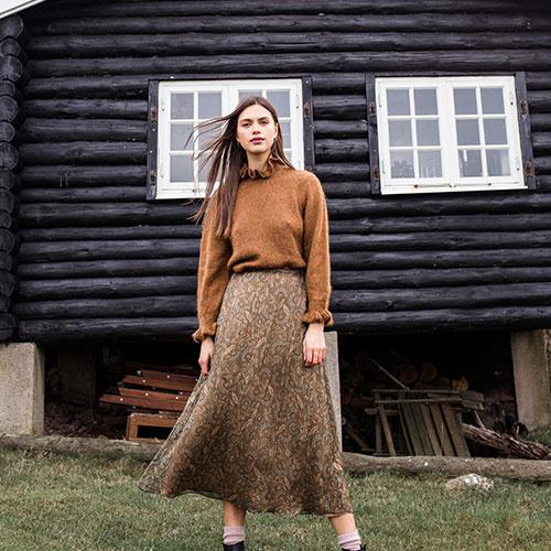 Louise Misha Women Skirt Yungalina Lurex Folk Flowers (Rok)-3