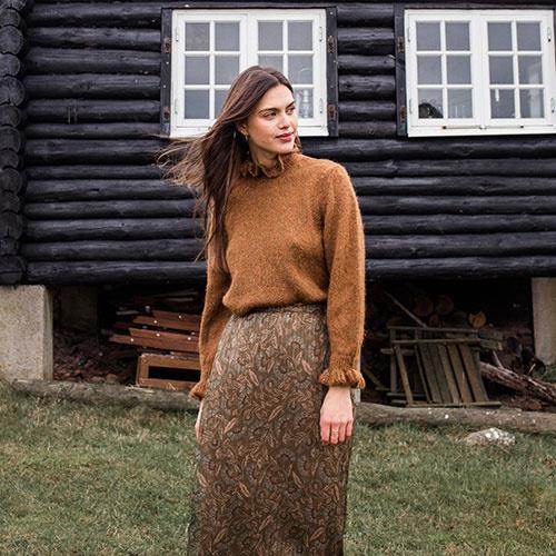 Louise Misha Women Skirt Yungalina Lurex Folk Flowers (Rok)-5