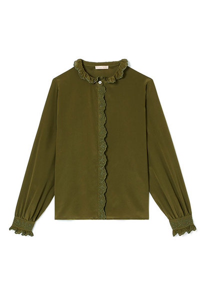 Louise Misha Women Blouse Edith Olive (Top)