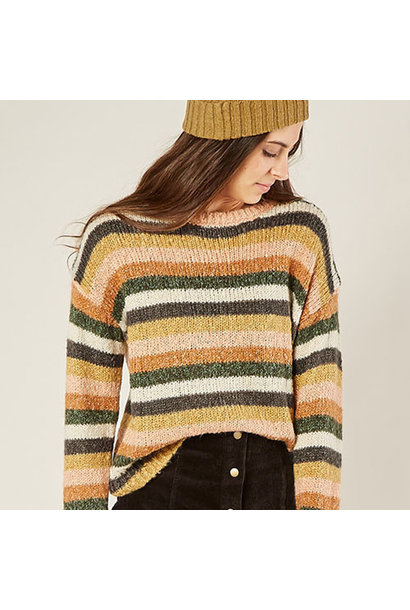 Rylee + Cru Woman Stripe Aspen Sweater Multi (Trui)