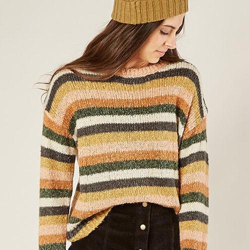 Rylee + Cru Woman Stripe Aspen Sweater Multi (Trui)-1