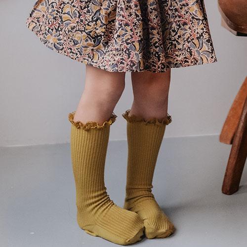 Louise Misha Socks Amira Dark Safran (Sokken)-3