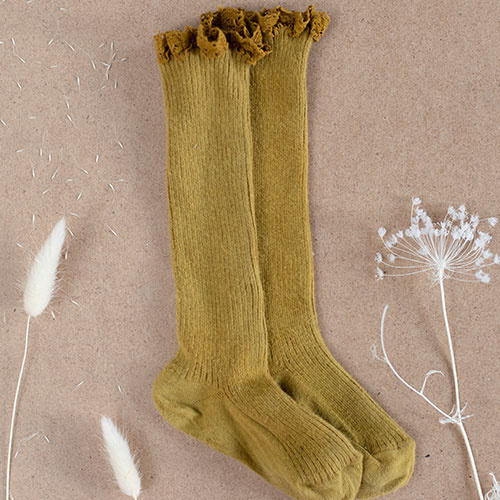 Louise Misha Socks Amira Dark Safran (Sokken)-1