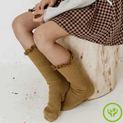 Louise Misha Socks Amira Dark Safran (Sokken)-2