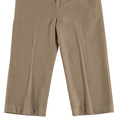 Tocoto Vintage Flannel Pants With Inner Waistband Beige (Broek)-5