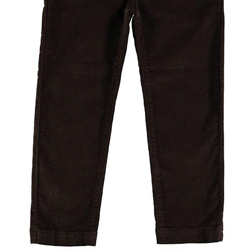 Tocoto Vintage Velvet Elastic Pants with 4 Pockets Dark Brown (Broek)-5