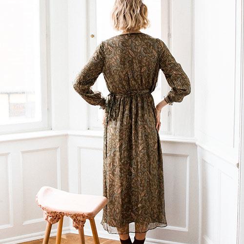 Louise Misha Woman Dress Emelyna Lurex Folk Flowers (Jurk)-3