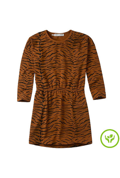 Sproet & Sprout Dress print Tiger Caramel (Jurk)