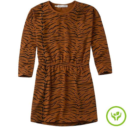 Sproet & Sprout Dress print Tiger Caramel (Jurk)-1