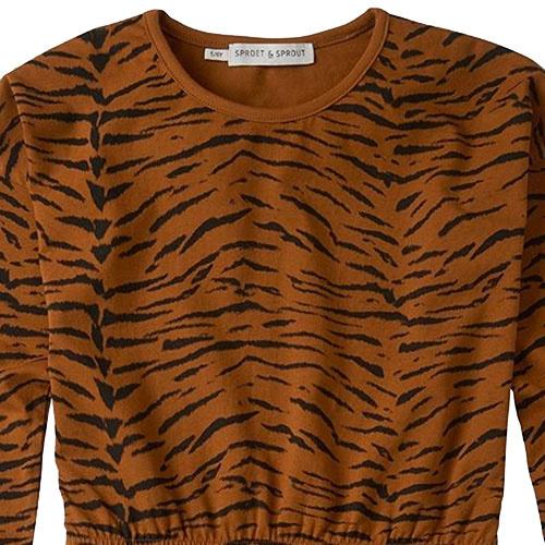 Sproet & Sprout Dress print Tiger Caramel (Jurk)-3