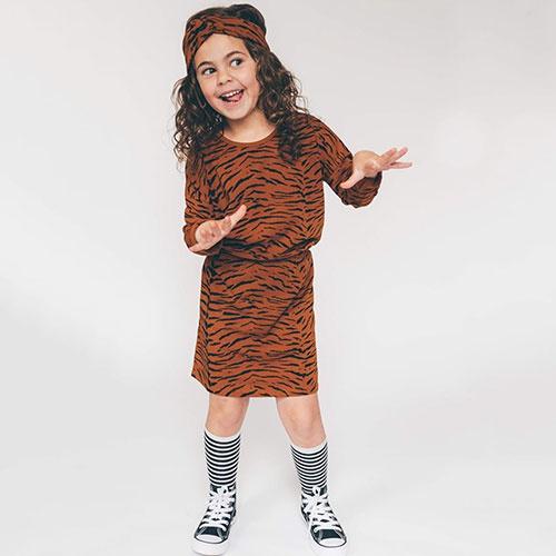 Sproet & Sprout Dress print Tiger Caramel (Jurk)-2