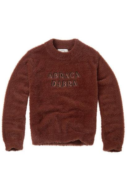 Sproet & Sprout Fuzzy Sweater Abracadabra Chocolate (Trui)