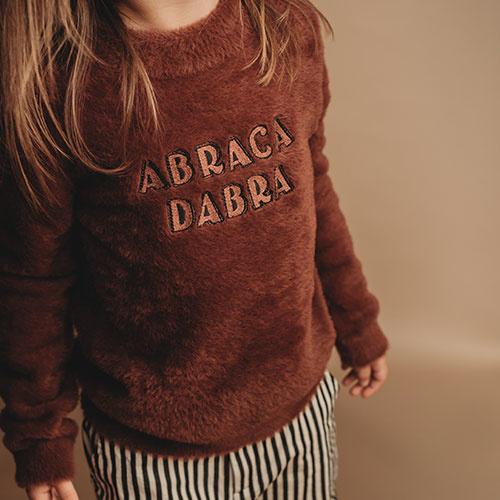 Sproet & Sprout Fuzzy Sweater Abracadabra Chocolate (Trui)-2