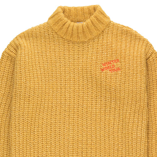 "Tinycottons ""Winter World Tour"" Sweater yellow (Trui)-4"
