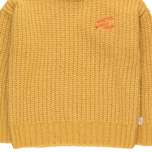 "Tinycottons ""Winter World Tour"" Sweater yellow (Trui)-5"