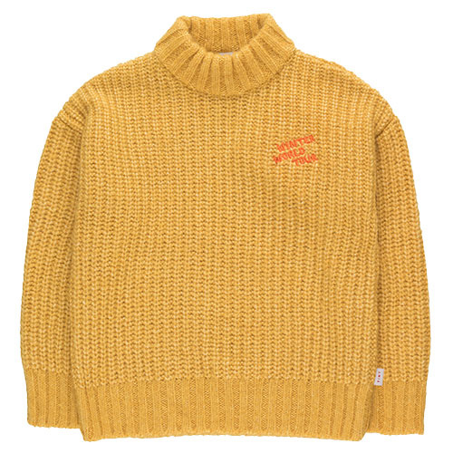 "Tinycottons ""Winter World Tour"" Sweater yellow (Trui)-1"