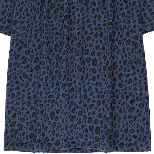 Tinycottons Animal Print Dress light navy/dark brown (Jurk)-6