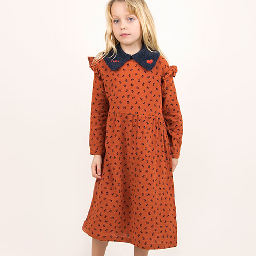 Tinycottons Tiny Flowers Dress sienna/navy (Jurk)-2