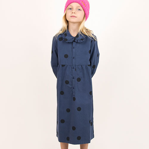 Tinycottons Big Dots Dress light navy/black (Jurk)-2