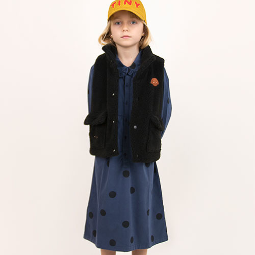 Tinycottons Big Dots Dress light navy/black (Jurk)-3