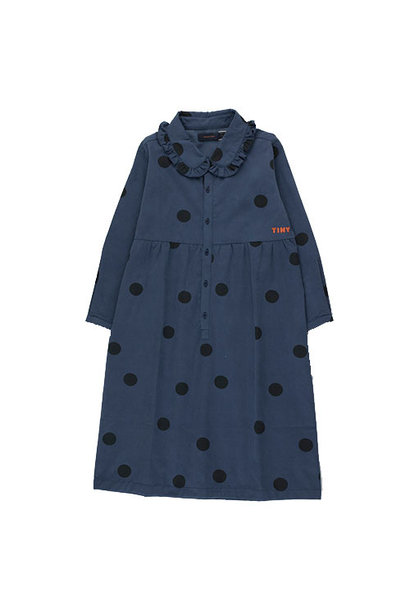 Tinycottons Big Dots Dress light navy/black (Jurk)