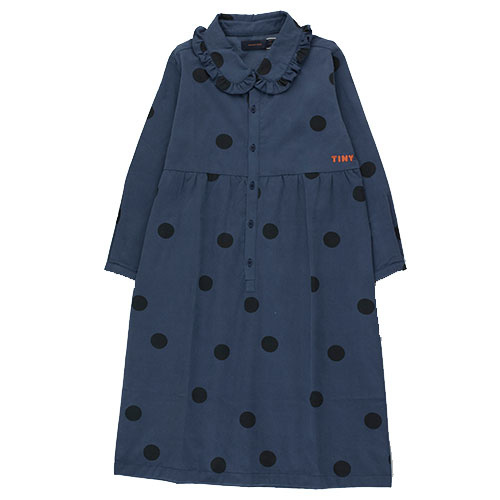 Tinycottons Big Dots Dress light navy/black (Jurk)-1