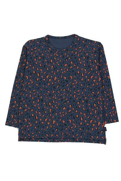 Tinycottons Animal Print Tee light navy/dark brown (Shirt)