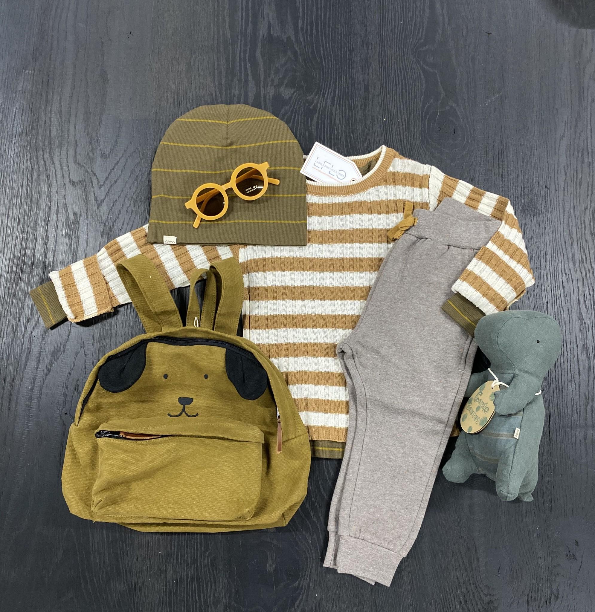 MarMar Copenhagen Toro Linen Mix Knitwear Caramel Stripe (Trui)-2