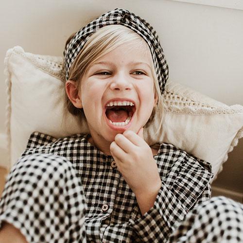 Louise Misha Headband Ally Aubergine Vichy (Hoofdband)-2