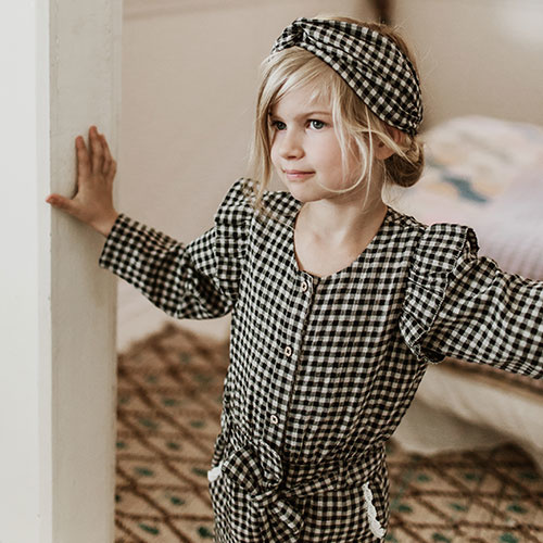 Louise Misha Headband Ally Aubergine Vichy (Hoofdband)-3
