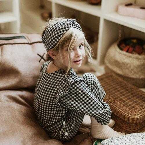 Louise Misha Headband Ally Aubergine Vichy (Hoofdband)-4