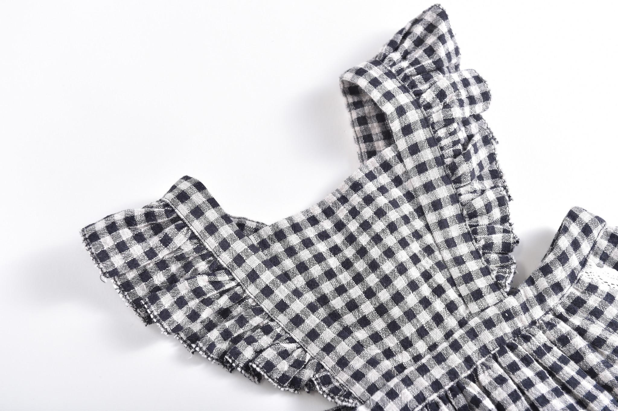 Louise Misha Dress Asili Black Vichy (Jurk)-4