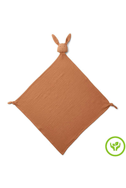 Liewood Agnete Robbie Multi Muslin Cloth Rabbit Terracotta (Knuffeldoek)
