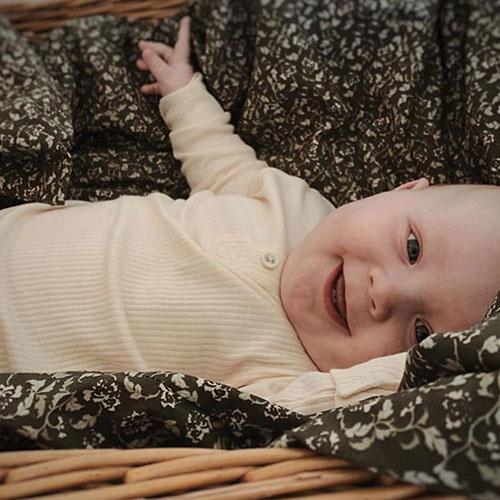 MarMar Copenhagen Baby Unisex Modal Body LS Off White (Romper)-2