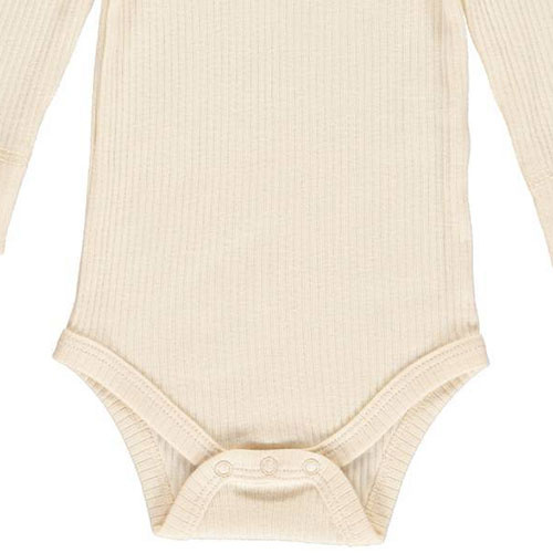 MarMar Copenhagen Baby Unisex Modal Body LS Off White (Romper)-5