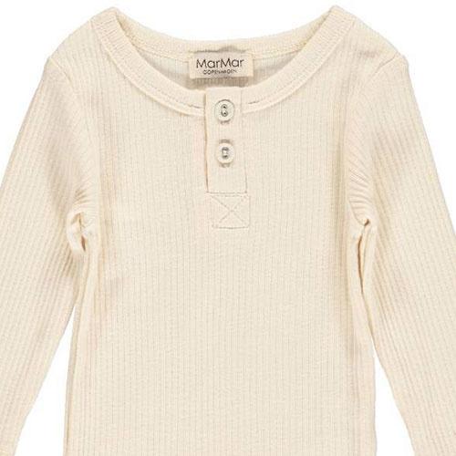 MarMar Copenhagen Baby Unisex Modal Body LS Off White (Romper)-4