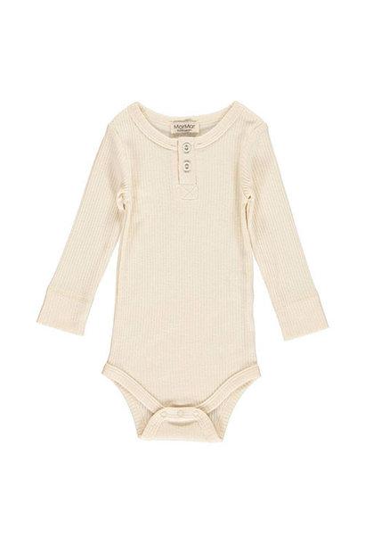 MarMar Copenhagen Baby Unisex Modal Body LS Off White (Romper)